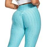 GMRZ Leggings de yoga de cintura alta para mujer, pantalones de compresión, pantalones de control de barriga, leggings de entrenamiento con burbujas para deportes, fitness diario, B, XXXL