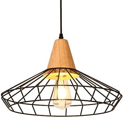 Relaxdays - Lámpara de techo Grid Optica jaula rejilla; diseño ...