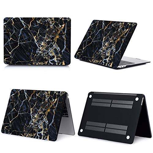 New Marble Laptop Case for Macbook Touch ID Air 13 case A1932 Pro 12 16 15 11 inch shell For Macbook Pro 13 case +Keyboard Cover-023-Model A1466 A1369