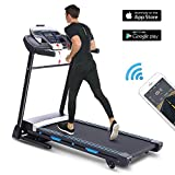 ANCHEER Folding Treadmill with APP Control, 3.25HP Automatic Incline Treadmill, Portable Treadmill Walking Running Machine with Audio Speakers for Home Gym (T900_Automatic Incline(APP Control))