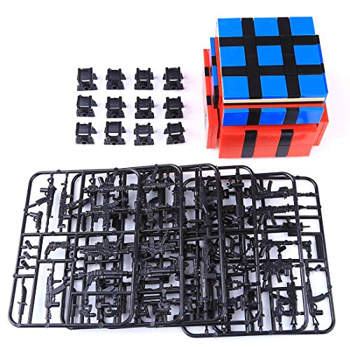 Lingxuinfo Military Army Weapons and Accessories for Brick Figures, Military Weapons Box Building Blocks Toy Compatible…