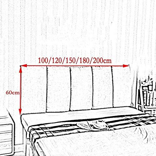 Auto lumbale kussen Bed rugleuningkussen Zonder Headboard Plak On The Wall Prevent Banging Head Bedroom grote kussen (Color : Orange, Size : 120 x 60cm)
