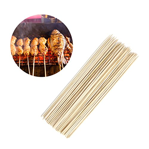 Best Bargain Cicitop 50 Pcs Disposable Bamboo BBQ Roast Needle Stick, Lightweight and Portable, Idea...