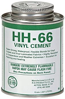RH Adhesives HH-66 Industrial Strength Vinyl Cement Glue with Brush 8 oz Clear