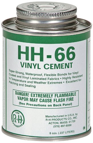 RH Adhesives HH-66 Industrial Strength Vinyl Cement Glue with Brush, 8 oz, Clear