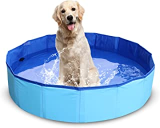 NHILES Portable Pet Dog Pool, Collapsible Bathing Tub, Indoor & Outdoor Foldable Leakproof Cat Dog Pet SPA, Medium & Small Sized Dog