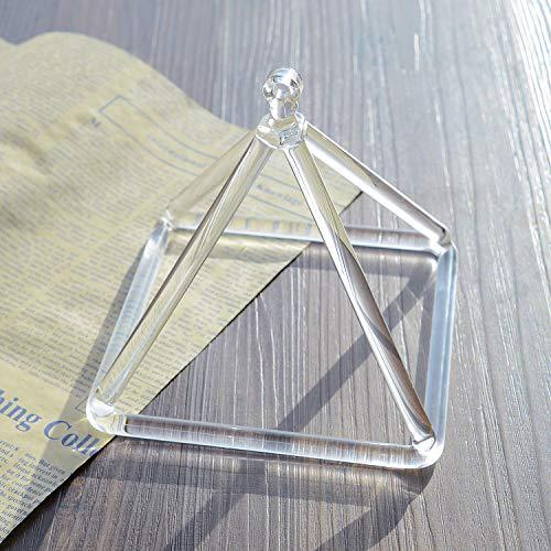 TOPFUND Klangpyramide mit Kristallquarz, 15,2 cm, perfekte Heilung, Musikinstrument-Schlägel im Lieferumfang enthalten, beste und beste Qualität Klang und Material