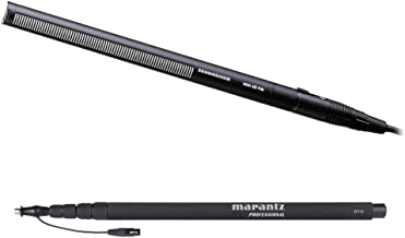 Sennheiser MKH-416 Short Shotgun Interference Tube Microphone with Marantz CF11C Carbon Fiber Boompole