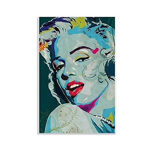 KEMS Marilyn Monroe - Póster de retrato de Marilyn Monroe, papel pintado de Marilyn Monroe, cuadro artístico y arte de pared, impresión moderna para dormitorio familiar, 30 x 45 cm
