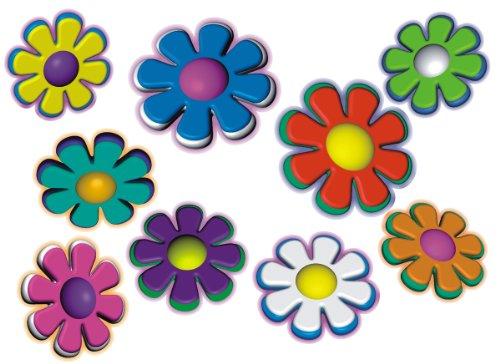 Autoaufkleber, Blumendesign: Mini Flowers 06 - Set 5 - bunt gemischt!