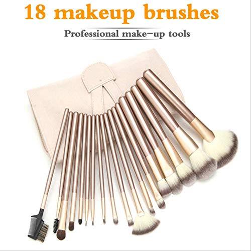 yishouhengcheng Pinceaux De Maquillage Pinceaux De Maquillage Beige Set Cosmétiques De Beauté Mélange De Fard À Paupières Lip Powder Foundation Pincel Tool W/Pouch Bag 24pcs