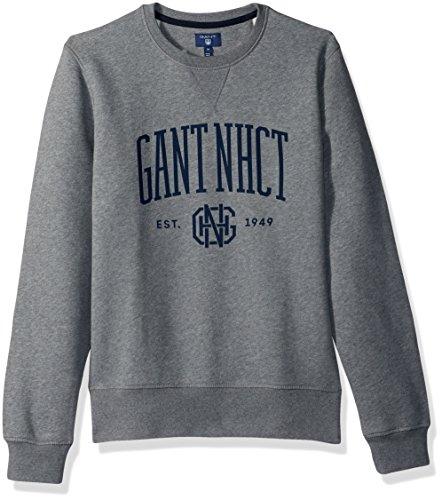 GANT Herren Mens New Haven Crewneck Sweatshirt, Dunkelgrau gemischt, XXX-Large
