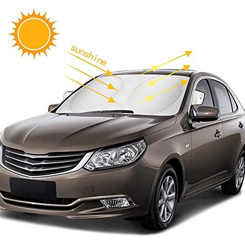 opamoo Auto Sonnenschutz, Sonnenschutz Auto für Frontscheiben, Sommer Sonnenschutz Frontscheibenabdeckun Sonnenblende Auto Windschutzscheibe Abdeckung UV-Schutz - 150x85cm