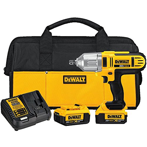 Best Price DEWALT 20V MAX Impact Wrench Kit, High Torque, Detent Pin Anvil, 1/2-Inch (DCF889M2)