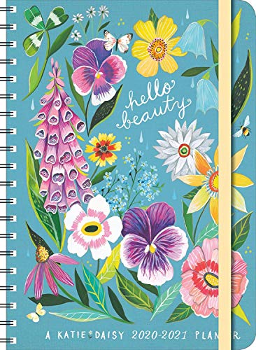 """Katie Daisy 2021 On-the-Go Weekly Planner: 17-Month Calendar with Pocket (Aug 2020 - Dec 2021, 5"""" x"""