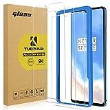 Tuopuna [3 Pack Compatible para One Plus 7T Protector de pantalla, (Case Friendly) 9H Dureza Ultra Claro, sin burbujas de aire, para OnePlus 7T [marco de orientación]