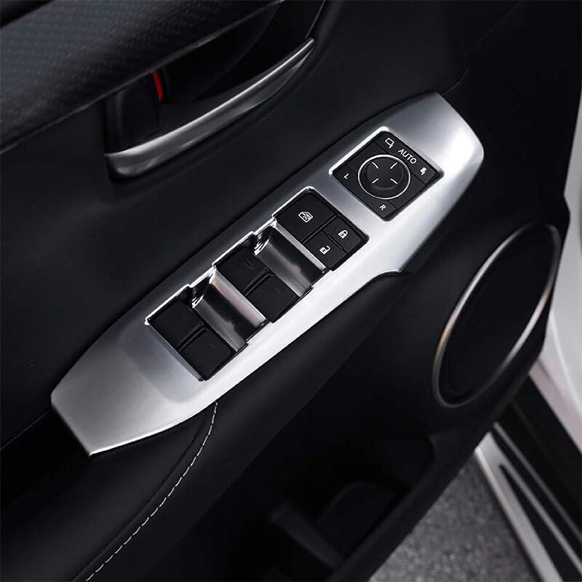 害ステレオメッセンジャーJIERS レクサスNX 200 2015-2018 LHD、ABSマットドアウィンドウガラスリフトコントロールスイッチパネルカバートリムカースタイリングアクセサリー