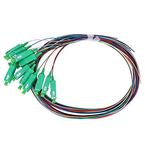 Agatige Cable de conexión de fibra de 1,5 metros 12 núcleos SC‑0,9 mm Cable de fibra de modo único
