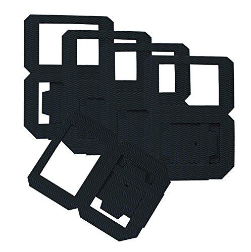 folia 9890/5 - Laternen Rohlinge, Laternenzuschnitte aus Wellpappe, 5 Stück, schwarz, 13,5 x 13,5 x 18 cm, zum Zusammenstecken ohne Kleber, ideal für individuelle Laternen oder Tischlichter