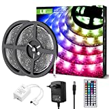 LE Tira Luz RGB 10M, Tira LED 300 SMD 5050, Multicolor y Regulable, Tira Luces LED RGB Impermeable IP65 con 20 Colores 8...