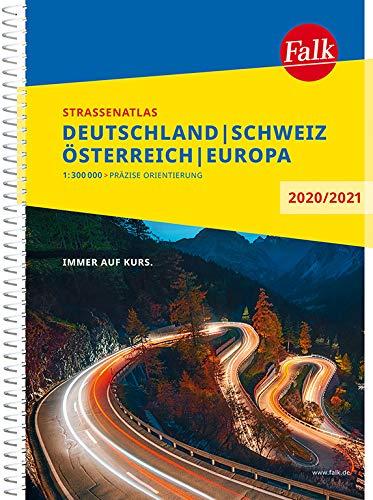 Falk Straßenatlas Deutschland, Schweiz, Österreich, Europa 2020/2021 1 : 300 000 (Falk Atlanten)