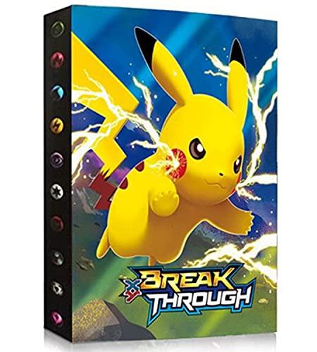 Porta Carte Compatibile Con Pokemon, Album Compatibile Con Pokémon, Raccoglitori Compatibile Con Carte Pokemon, Album Porta Compatibile Con Carte Pokemon, Pokemon Porta Carte(SDSDQ-PIKAQIU)