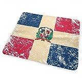 Cambiador de banderas de República Dominicana, impermeable, portátil, grande, cambiador de pañales, funda para colchón para niños y niñas recién nacidos (25,5 x 31,5 cm)