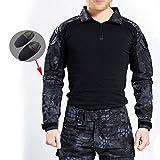 Camisa de camuflaje BDU de WorldShopping4U, para hombre, con mangas largas y coderas, para practicar...