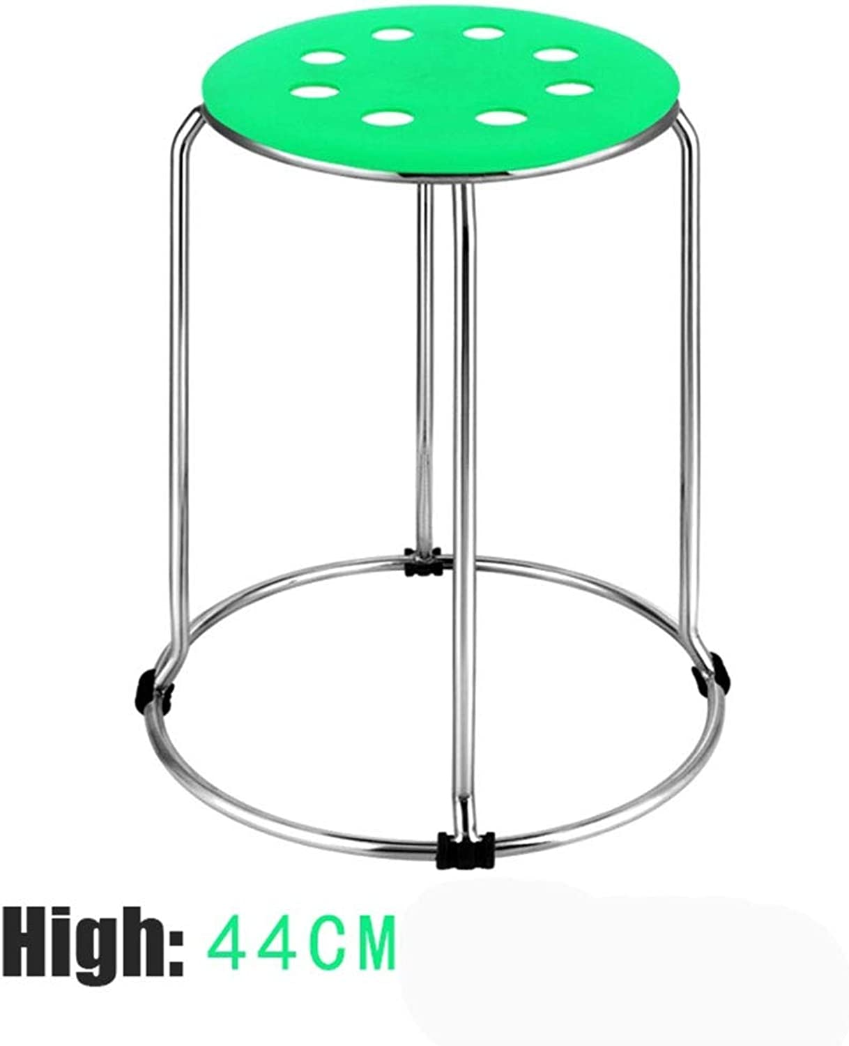 ZHANGQIANG Commercial Furniture Plastic Stack Stool 29cmWidth, 45cm High (color   Green, Size   29  29  45cm)