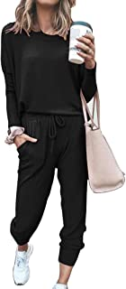 Autumn and Winter 2 Piece Women Set Loose Solid Color Long Sleeve Casual Suit