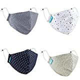 Maple MP-02 Printed Cotton Face mask For Women Fashion 3 Layer Reusable & washable Anti Pollution Men Boys Girls Kids Mask Unisex free size (4, KIDS 2-6 YEARS)