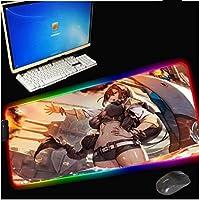 RGBマウスパッドアニメ漫画ビッグゲーミングキーボードデスクマットLEDカラーPCアクセサリー滑り止めマットXXL 700X300MM