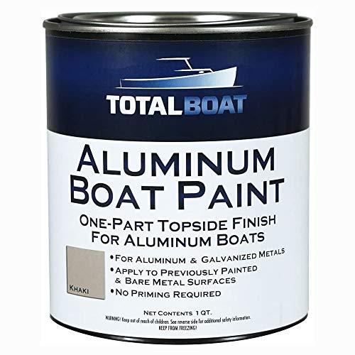TotalBoat-511786 Aluminum Boat Paint for Canoes, Bass Boats, Dinghies, Duck Boats, Jon Boats and Pontoons (Khaki, Quart)
