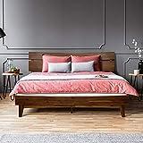ACACIA Aurora 14 Inch Wood Platform Bed Frame with Headboard, King Chocolate