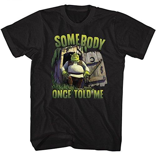 American Classics Shrek Movie Movie Somebody Black Adult T-Shirt Tee