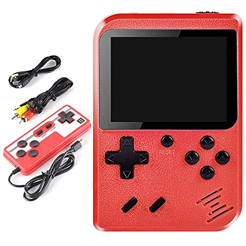 Consola de Juegos Retro de Mano, Reproductor de minijuegos Retro, 400 Juegos clásicos incorporados, Compatible con Dos Jugadores y Salida de Pantalla de TV, para niños y Adultos