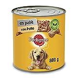 Pedigree Comida Húmeda para Perros Sabor Pollo en paté (Pack de 12 latas x 800g)