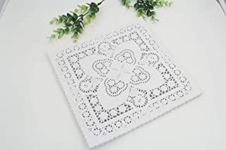 Linker Wish Paper Doilies Create and Craft 25.4cm=10 Inch White Square Paper Lace Doilies/Placemat/Wedding Decoration-100pcs/lot