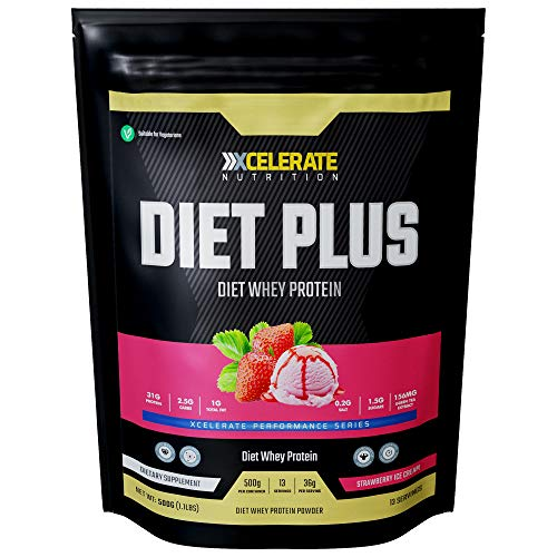 XCelerate Nutrition Diet Shake 500g Powder Shakes for Weight Loss for Women Men Low Calories Sugar Whey Protein Ultralean Lean Meal Replacement Shake (Strawberry)