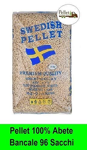 PELLET SWEDISH 100% ABETE - ENPLUS A1 - ALTO POTERE CALORIFICO (96 SACCHI)