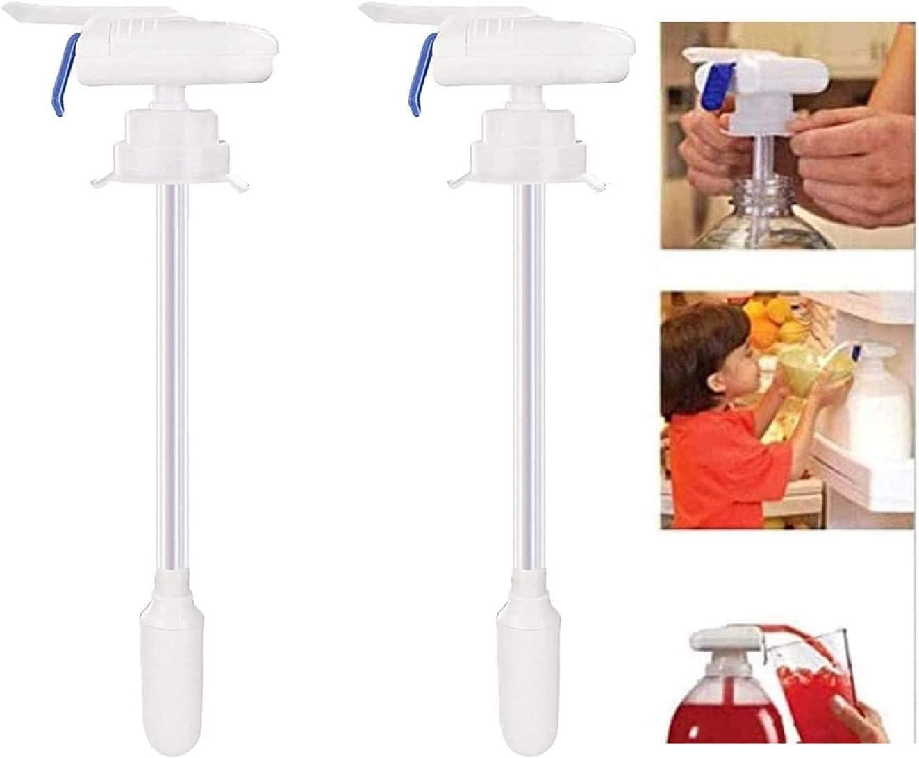Magic Tap Electric Automatic Water & Drink Dispenser, Magic Electric Tap, Refrigerator Automatic Beverage Dispenser, for Milk Juice Beer Beverage Bottle (2PCS)