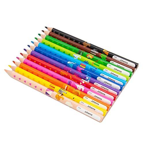 Pelikan Combino Buntstifte - dreikant - Stifte mit Namen/individueller Gravur oder Druck