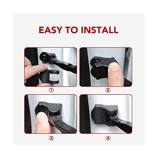 basenor tesla model 3 model y door lock cover protector latches cover door stopper covers set of 8 (upgrade)