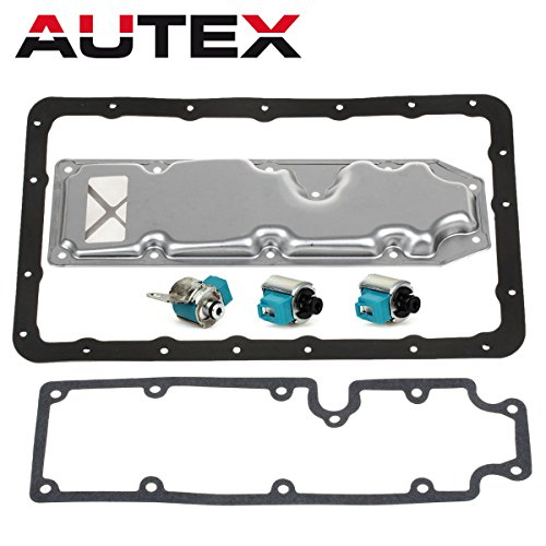 AUTEX A340H AW30-80LE Transmission Shift Master TCC Lock Up Solenoid Control Valve with Pan Filter Gasket Kit Compatible With Pick-up & T100/Isuzu Trooper/Mitsubishi Montero 85-94