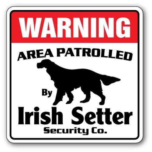 Diuangfoong Irish Setter Sicherheitsschild für Hunde mit Patrollierung