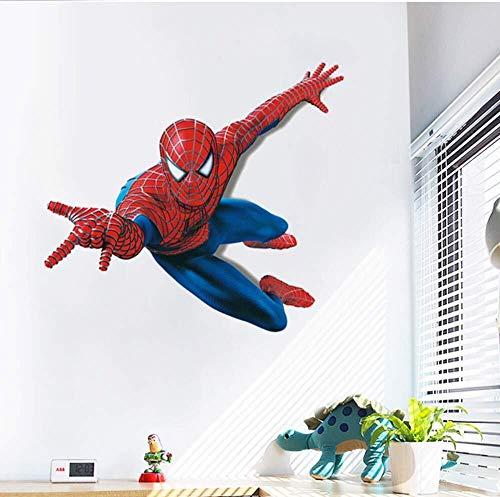 WJFQ Wandsticker Wandtattoo 3D Wandaufkleber Spiderman Superheld Tapeten Tapete Dekorative Spider-Man-Film-Plakat Removable Self Adhesive Kind-Raum-Wand-Dekor 60x90cm