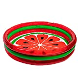 3-Ring Pool Watermelon Style | Kids Outdoor Inflatable Games | Blow Up Pool for Adults, Toddlers, & Babies | Summer Indoor & Outdoor Play Set | Swimming Toys for Kids | Portable Party Float