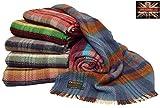 British recyceltem Wolle Picknick Reise zu werfen Decke 150 x 183cm