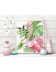 Painting Mantra Art Flamingo Framed Canvas Art Print Pink