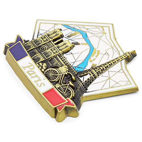 Juvale Juego de imanes para nevera, grandes ciudades europeas (6 unidades)